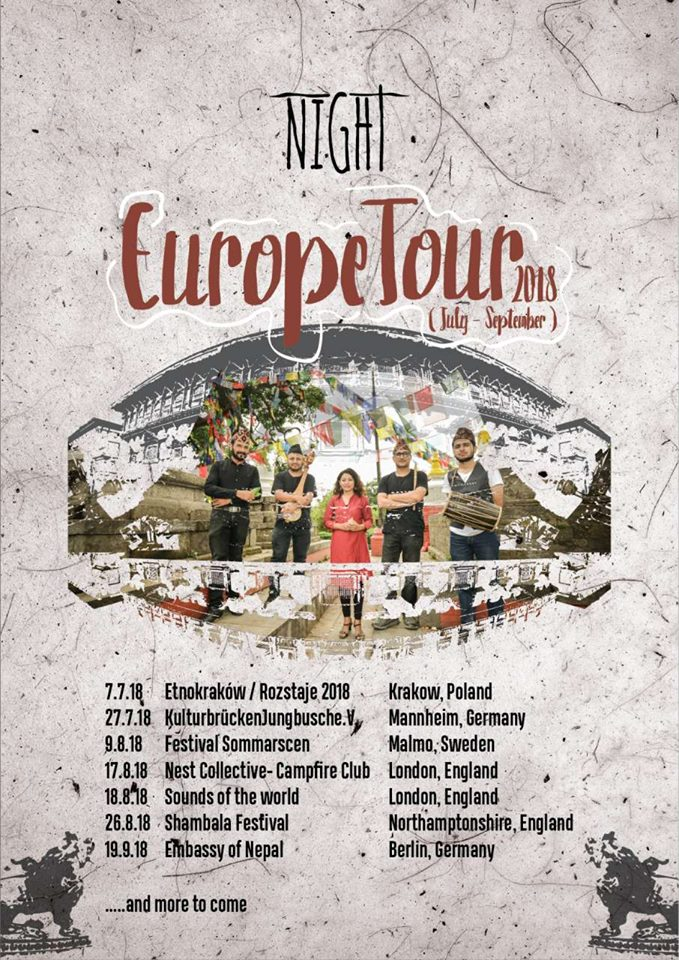 Night Europe tour 2018